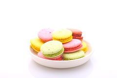 Colored cakes  macaroon  Stock Photo