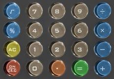 Colored Calculator Keyboard Stock Photos