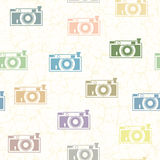 Colored cameras Royalty Free Stock Image