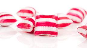 Colored candies. Isolated on white royalty free stock image
