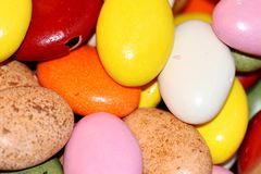 Colored candies. And candy shop Royalty Free Stock Image