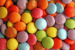 Colored candies. Sweets of different colours stock photos