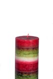 Colored candle. Image of a colored candle isolated on white background Stock Image