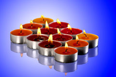 Colored candles Royalty Free Stock Photos