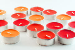 Colored candles Royalty Free Stock Images