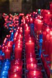 Colored Candles at Montserrat monastery near Barcelona in Spain Royalty Free Stock Photo