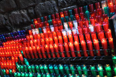 Colored candles Stock Photos