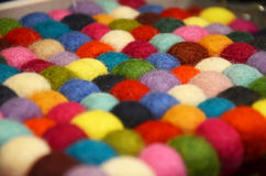 Colored wool tangle in the shop in London Royalty Free Stock Images