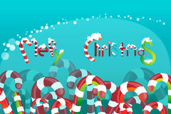 Colored candy. Field of colored candies, and caramels.  logo Merry Christmas Royalty Free Stock Photography