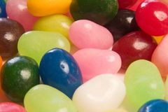 Colored candy. Some jelly beans close up Royalty Free Stock Photos