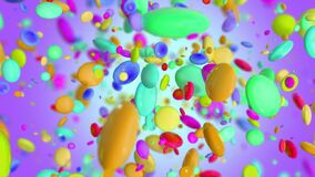 Colored Candy explosion in 4K