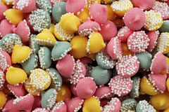 Colored Candy Mints In Macro Royalty Free Stock Photography