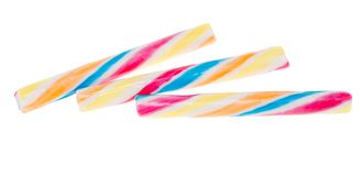 Colored candy sticks isolated Stock Image