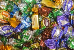 Chocolate candys Stock Images