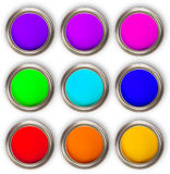 Colored cans Royalty Free Stock Photography