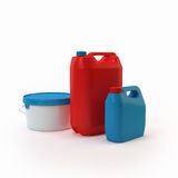 Colored cans and paint cans Royalty Free Stock Photo
