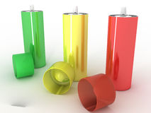 Colored cans �5 Stock Photography