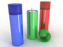 Colored cans  �6 Stock Photos