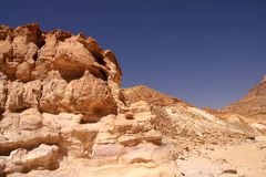 Colored Canyon in Egypt Stock Photos