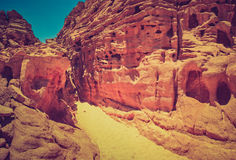 Colored Canyon of Egypt. Stock Photo