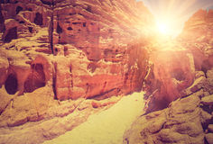 Colored Canyon of Egypt. Nuweiba. South Sinai. Royalty Free Stock Photography