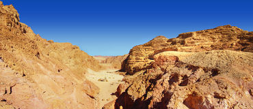 Colored canyon - panoramic view Stock Photo