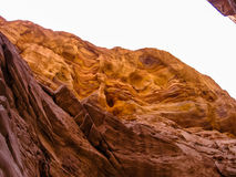Colored Canyon Wall Nuweiba Royalty Free Stock Photography