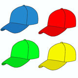 Colored caps Stock Photo
