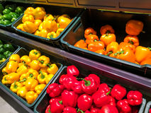 Colored Capsicum In Vegetable Market Royalty Free Stock Image