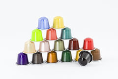 Colored capsules Royalty Free Stock Images