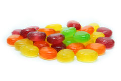 Colored caramel candies Stock Image