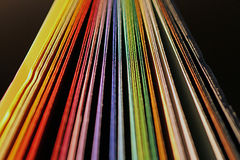 Colored card Stock Photo