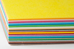 Colored cardboard stack Stock Photography