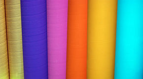 Colored cardboard tubes Royalty Free Stock Photography
