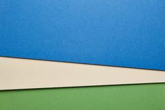 Colored cardboards background in blue beige green tone. Copy spa Royalty Free Stock Photos
