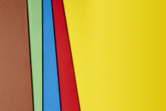 Colored cardboards background. Copy space. Textured. Paper Royalty Free Stock Images