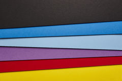 Colored cardboards background in several tones. Copy space Royalty Free Stock Image