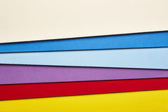 Colored cardboards background several tones. Copy space Stock Photography