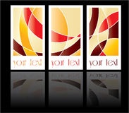 Colored cards abstract background sample Royalty Free Stock Photos