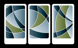 Colored cards abstract background sample Stock Photos
