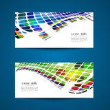 2 colored cards / backgrounds Royalty Free Stock Images