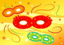 Colored Carnival masks Stock Photo