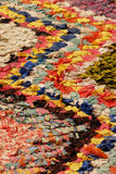 Colored carpet. African carpet background detail in a street of morroco Royalty Free Stock Photos