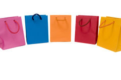 Colored carrier bags Stock Images