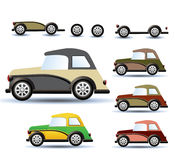 Colored cars Royalty Free Stock Images