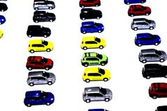 Colored cars in miniature Stock Image