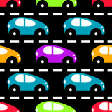 Colored cars on the road beautiful background Royalty Free Stock Images