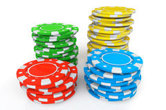 Colored Casino chips Royalty Free Stock Photo