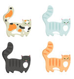 Colored cat Stock Image