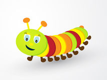 Colored caterpillar vector illustration